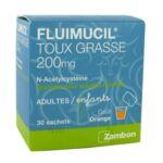 FLUIMUCIL EXPECTORANT ACETYLCYSTEINE 200 mg SANS SUCRE, granulés pour solution buvable en sachet édulcorés à l'aspartam et au sorbitol à Bergerac
