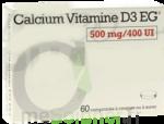 CALCIUM VITAMINE D3 EG 500 mg/400 UI, comprimé à croquer ou à sucer à Bergerac