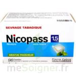 NICOPASS 1,5 mg SANS SUCRE MENTHE FRAICHEUR, pastille édulcorée à l'aspartam et à l'acésulfame potassique à Bergerac