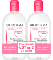 Crealine Ts H2o Solution Micellaire Sans Parfum Nettoyante Apaisante 2fl/500ml à Bergerac