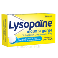 LysopaÏne Comprimés à Sucer Maux De Gorge Sans Sucre 2t/18 à Bergerac