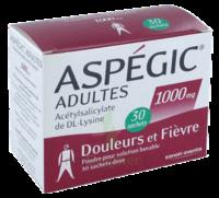 Aspegic Adultes 1000 Mg, Poudre Pour Solution Buvable En Sachet-dose 30 à Bergerac