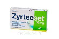 ZYRTECSET 10 mg, comprimé pelliculé sécable à Bergerac