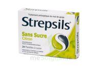 STREPSILS CITRON SANS SUCRE, pastille édulcorée à l'isomalt, au maltitol et à la saccharine sodique à Bergerac