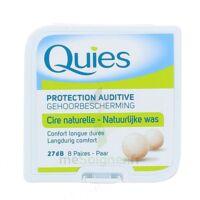 QUIES PROTECTION AUDITIVE CIRE NATURELLE 8 PAIRES à Bergerac