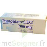PARACETAMOL EG 500 mg, comprimé à Bergerac
