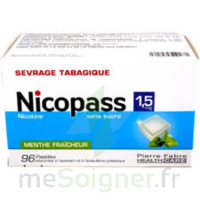Nicopass 1,5 Mg Pastille Sans Sucre Menthe Fraîcheur Plq/96 à Bergerac