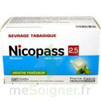 Nicopass 2,5 Mg Pastille Menthe Fraîcheur Sans Sucre Plq/96 à Bergerac