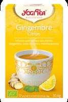 Yogi Tea Tisane Ayurvédique Gingembre Citron Bio 17 Sachets/1,8g à Bergerac