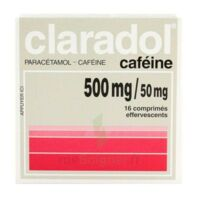 CLARADOL CAFEINE 500 mg/50 mg, comprimé effervescent à Bergerac