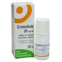 CROMABAK 20 mg/ml, collyre en solution à Bergerac