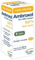 AMBROXOL EG LABO CONSEIL 0,6 %, solution buvable à Bergerac