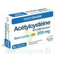 ACETYLCYSTEINE EG LABO CONSEIL 200 mg SANS SUCRE, poudre pour solution buvable en sachet-dose à Bergerac