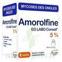 AMOROLFINE EG 5 % V ongles médicamenteux 1Fl/2,5ml+10 spat à Bergerac