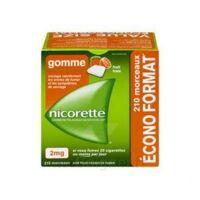 Nicorette 2 Mg Gomme à Mâcher Médicamenteuse Sans Sucre Fruits Plq/210 à Bergerac