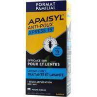 Apaisyl Anti-poux Xpress 15' Lotion Antipoux Et Lente 100ml+peigne à Bergerac