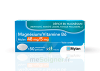 Magnesium/vitamine B6 Mylan 48 Mg/5 Mg, Comprimé Pelliculé à Bergerac